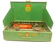 Coleman 413g 2 Burner Gas Camp Camping Stove Vintage Antique Classic Clean Usa