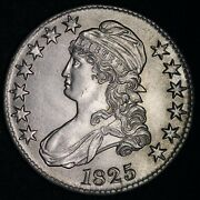 1825 Capped Bust Silver Half Dollar Choice Unc Free Shipping E342 Gnmx