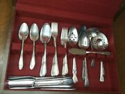 54 Pc1847 Rogers Brothers Adoration Is Silver Plate Flatware Silverware Hostess