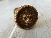 Solid Brass Lion Head Knob Handle Square Spindle Project Door Drawer Furniture
