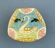 Collector Clothing Buttons -swan
