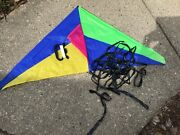 Kite Delta 47 Rip Stop Nylon W/ String +tail Complete Spectra Star A Marvel Co.