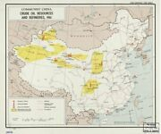 1961 Map  Communist China, Crude Oil Resources And Refineries  China petroleum p
