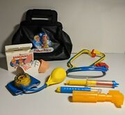 Vintage Fisher Price Doctorand039s Medical Bag And Accessories 1980s Children Kids Toy