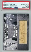 Christy Walsh Babe Ruthand039s Agent Custom Card Psa/dna Signed Auto Autograph
