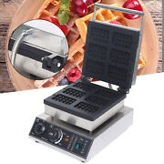 1500w Commercial Square Waffle Maker Nonstick Electric Pancake Baker W/ Timer