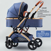Baby Stroller Sit Lie 2 In 1 Two-way Pushing High Landscape Umbrella Carts