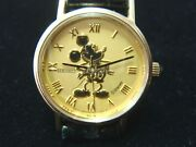 14k 585 Ladies Solid Gold Seiko Mickey Mouse Watches Rare Xlnt Condition Disney