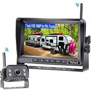 Rohent R9 Hd 1080p Rv Wireless Backup Camera With 7 Inch Dvr Monitor High-speed