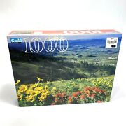 New Vintage Guild 1000 Pc Jigsaw Puzzle Flowers Over Hood River Oregon Sealed