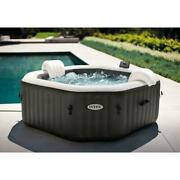 Intex 79 X 28 Purespa Jet And Bubble Deluxe Inflatable Spa Set 4-person