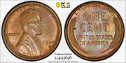 1909 S Vdb 1c Lincoln Wheat Cent Pcgs Ms 64 Rb Uncirculated Red Brown Key Date