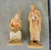 Vintage Anri Karl Kuolt Hand-carved Nativity Mary And Joseph 3 Scale