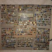 Old Vintage Pins Bages Of Fishing, Fish - Big Lot Over 800 Pins Badges