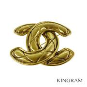 Gold Plated Coco Mark Matrasse Vintage Brooch From Japan