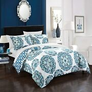Chic Home Barcelona 6 Piece Reversible Comforter Sheet Set And Decorative Pillow