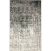 Safavieh Retro Collection Ret2770-9079 Modern Abstract Black And Light Grey...