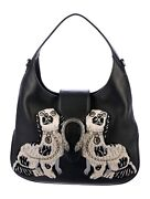 Large Embroidered Spaniels Dionysus Hobo Bag
