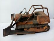 Vintage Original Large Mighty Tonka Pressed Steel T9 Dozer Bulldozer.