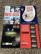 Lot Of 4 Boston Red Sox Baseball Yearbook 1962, 1963, 1964, 1965
