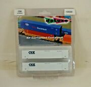 Nos Deluxe Innovations 53and039 Csx Intermodal N Scale Corrugated Containers - 13020