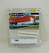 Nos Deluxe Innovations 53and039 Csx Intermodal N Scale Corrugated Container - 13021
