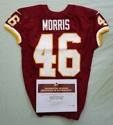 46 Alfred Morris Of Redskins Nfl Game Used And Unwashed Jersey Vs. Wcoa