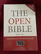 The Open Bible Signature Series Kjv By Nelson Black Bonded Leather 1985 Indexed