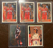 1996 Allen Iverson Rc Lot Of 5 Topps Collectors Edge Rage Rookie Cards Nm-m+