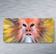 Monkey Gorgeous Looking Design Image On License Plate Car Front Auto Tag