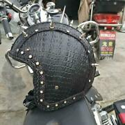 Retro Vintage Motorcycle Synthetic Leather Helmet Cruiser Chopper Scooter Moto
