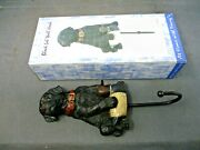 Nib Youngs Black Lab Puppy W/duck Decoy Wall Hook Resin And Metal