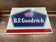 Vintage Rare 1957 Canadian B. F Goodrich White And Blue Tire Stand Display
