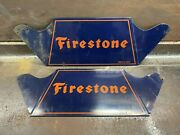 Vintage 1950s Nos Firestone Blue And Orange Advertising Tire Stand Sign Display