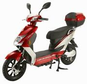 Cabo Cruiser Elite 48 Volt Electric Bicycle Scooter Long Range Ebike Red