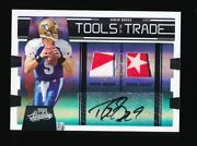 1/1 Drew Brees 2009 Playoff Absolute Tools Of The Trade Dual Pro Bowl Patch Auto