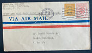 1929 Balboa Colon Canal Zone Panama First Flight Airmail Cover Ffc To David