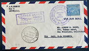 1937 Colon Canal Zone Panama First Flight Airmail Cover Ffc To Cali Colombia