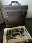 1910s Tombstone Traveling Salesman Sample Kit Creepy Old Box Photos Order Forms
