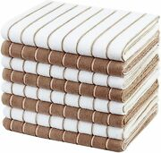 Gryeer Microfiber Kitchen Towels Stripe Designed Soft And Super Absorbent Dish