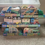 Melissa And Doug Wood Garbage Truck Train Airplane Fire Truck And Car Carrier
