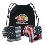 Beer Belly Bags Pro Style Performance Cornhole Bags   Stick And Slick - Set Of 8