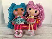Lalaloopsy Lot Loopy Hair Mittens Fluff N Stuff And Jewel Sparkles + Couch