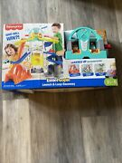 Fisher Price Little People Launch And Loop Raceway Light-up Vehicle Damage Box