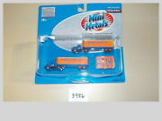 N Scale Mini Metals Roadway Express Ih R-190 Tractor / 32and039 Aerovan Trailer Set
