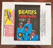 Empty Pack Wax Wrapper1964 Topps The Beatles Colorno Tears Or Rips