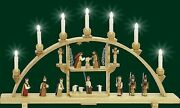 Candle Arches Christs Birth Electric Erzgebirge Seiffen Light Bow New 01230