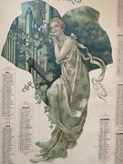 Original French Antique Victorian 1904 Lithography By Georges Bataille -calendar