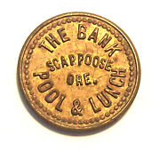 Oregon Token - The Bank Pool And Lunch Lot 69d R5 G.f. 5c
