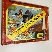 Vtg 4 Stay In Tray Inlaid Plaque Picture Puzzles Walt Disneys Jaymar
